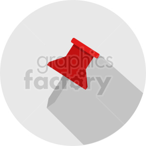 thumb tack vector clipart 1 clipart. Commercial use image # 413492