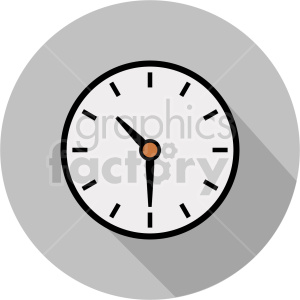 wall clock vector icon graphic clipart 1 clipart. Commercial use image # 413582