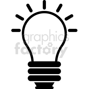 lightbulb vector icon graphic clipart 4 clipart. Commercial use image # 413623
