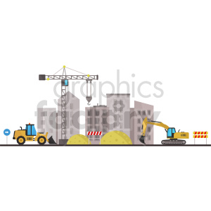 construction site vector graphic clipart clipart. Royalty-free image # 413642