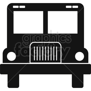 school bus vector icon graphic clipart 4 clipart. Commercial use image # 413663