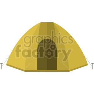 yellow camping tent vector graphic clipart clipart. Commercial use image # 413684