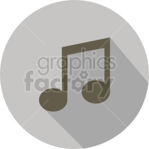 music note vector icon graphic clipart 1