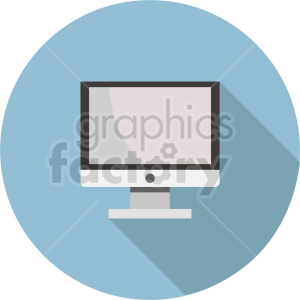 computer monitor vector graphic clipart 2 clipart. Commercial use image # 413728