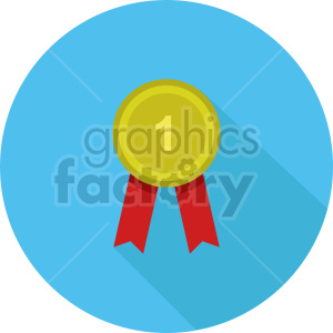 award medal vector icon graphic clipart 3