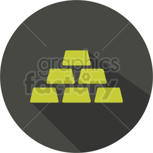 gold bars vector icon graphic clipart 3