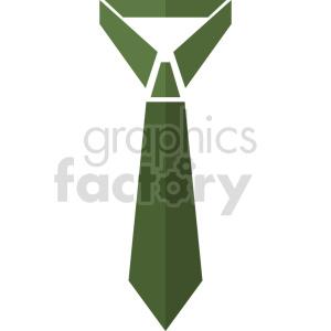 green tie vector graphic clipart