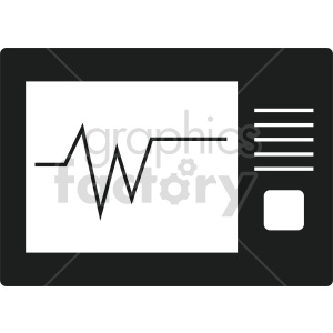 ekg machine vector icon graphic clipart 4 clipart. Commercial use image # 413788