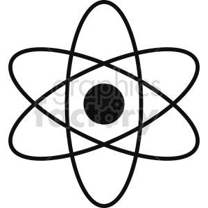 atoms vector icon graphic clipart 6