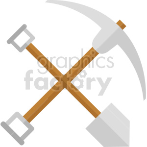 pickaxe shovel vector icon clipart no background clipart. Commercial use image # 413853