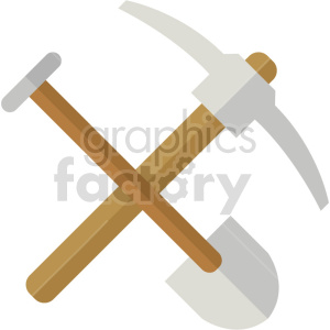 pickaxe shovel vector icon graphic clipart no background clipart. Commercial use image # 413888