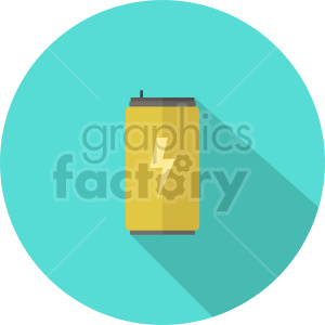isometric energy drink vector icon clipart 2