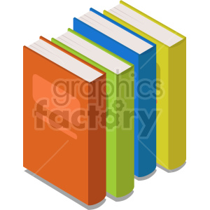 isometric books vector icon clipart 9