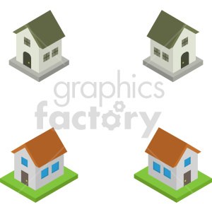 isometric house vector icon clipart 2 clipart. Commercial use image # 414019