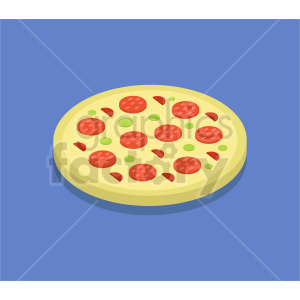 isometric pizza vector icon clipart 8