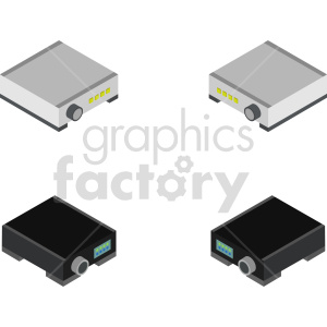 isometric projector vector icon clipart 2 clipart. Royalty-free image # 414093