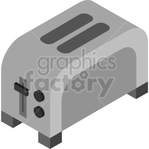isometric toaster vector icon clipart 2 clipart. Commercial use image # 414098