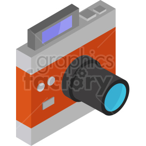isometric camera vector icon clipart 6