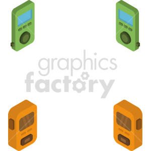 isometric mp3 player vector icon clipart 2 clipart. Commercial use image # 414133