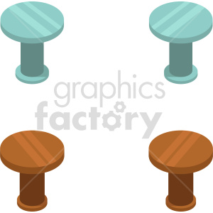 isometric kitchen table vector icon clipart 1