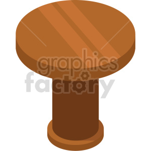 isometric kitchen table vector icon clipart 4 clipart. Royalty-free image # 414171