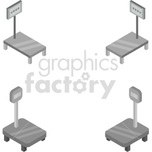 isometric digital scale vector icon clipart 1 clipart. Commercial use image # 414194