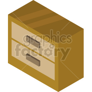 isometric dresser vector icon clipart 4 clipart. Commercial use image # 414204