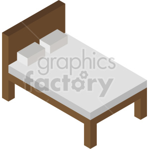 isometric bed vector icon clipart 4 clipart. Commercial use image # 414245