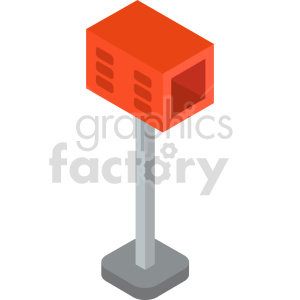 clipart - isometric mail box vector icon clipart 5.