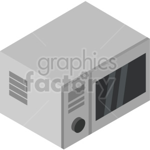 isometric microwave oven vector icon clipart 4 clipart. Commercial use image # 414269