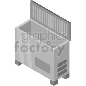 isometric freezer vector icon clipart 2