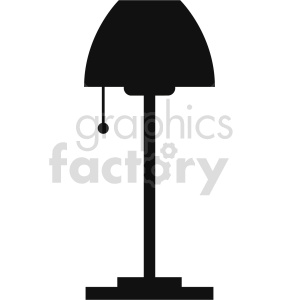 isometric floor lamp vector icon clipart 3