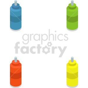 plastic bottle bundle isometric vector icon clipart clipart. Commercial use image # 414286
