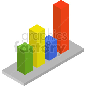 isometric bar charts vector icon clipart 5 clipart. Commercial use image # 414305