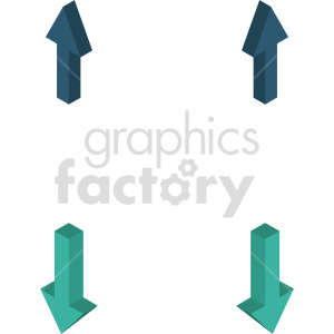 isometric arrows vector icon clipart 2 clipart. Commercial use image # 414309