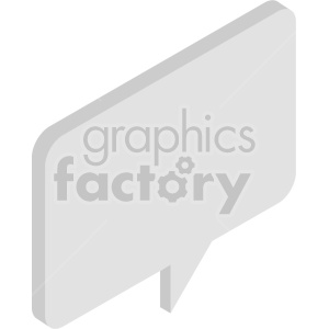 isometric chat boxes vector icon clipart 3