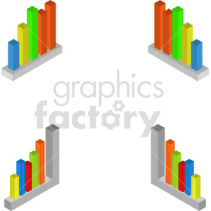 isometric bar charts vector icon clipart 1 clipart. Commercial use image # 414329