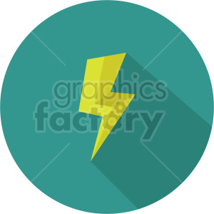 isometric lightning vector icon clipart 6