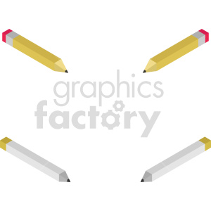 isometric pencil vector icon clipart set clipart. Commercial use image # 414338