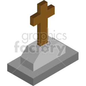 isometric tombstone vector icon clipart 7 clipart. Royalty-free image # 414355