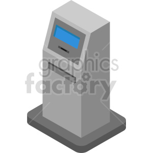 isometric atm vector icon clipart 8