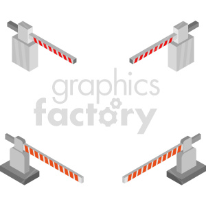 isometric road gate vector icon clipart 1 clipart. Commercial use image # 414427