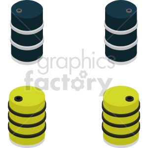 isometric barrel vector icon clipart 1 clipart. Commercial use image # 414437