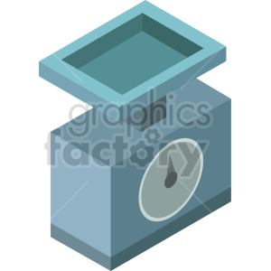isometric food scale vector icon clipart 7 clipart. Commercial use image # 414440
