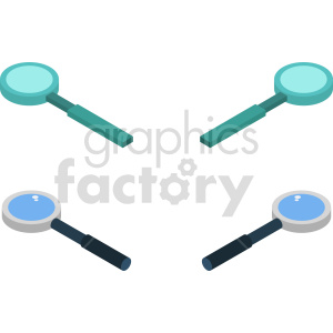isometric magnifying glass vector icon clipart 1 clipart. Commercial use image # 414458