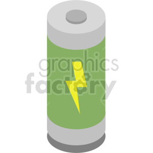isometric battery vector icon clipart clipart. Commercial use image # 414476
