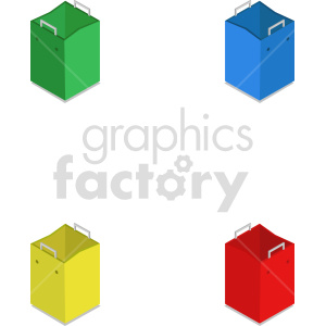 isometric shopping bag vector icon clipart 6 clipart. Commercial use image # 414569