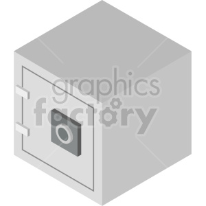 isometric safe vector clipart clipart. Commercial use image # 414579