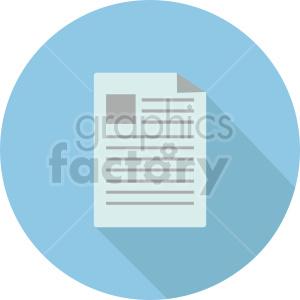 isometric document vector icon clipart 3