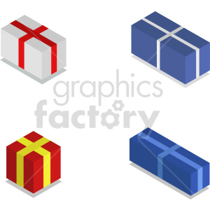 isometric presents vector icon clipart bundle clipart. Commercial use image # 414605